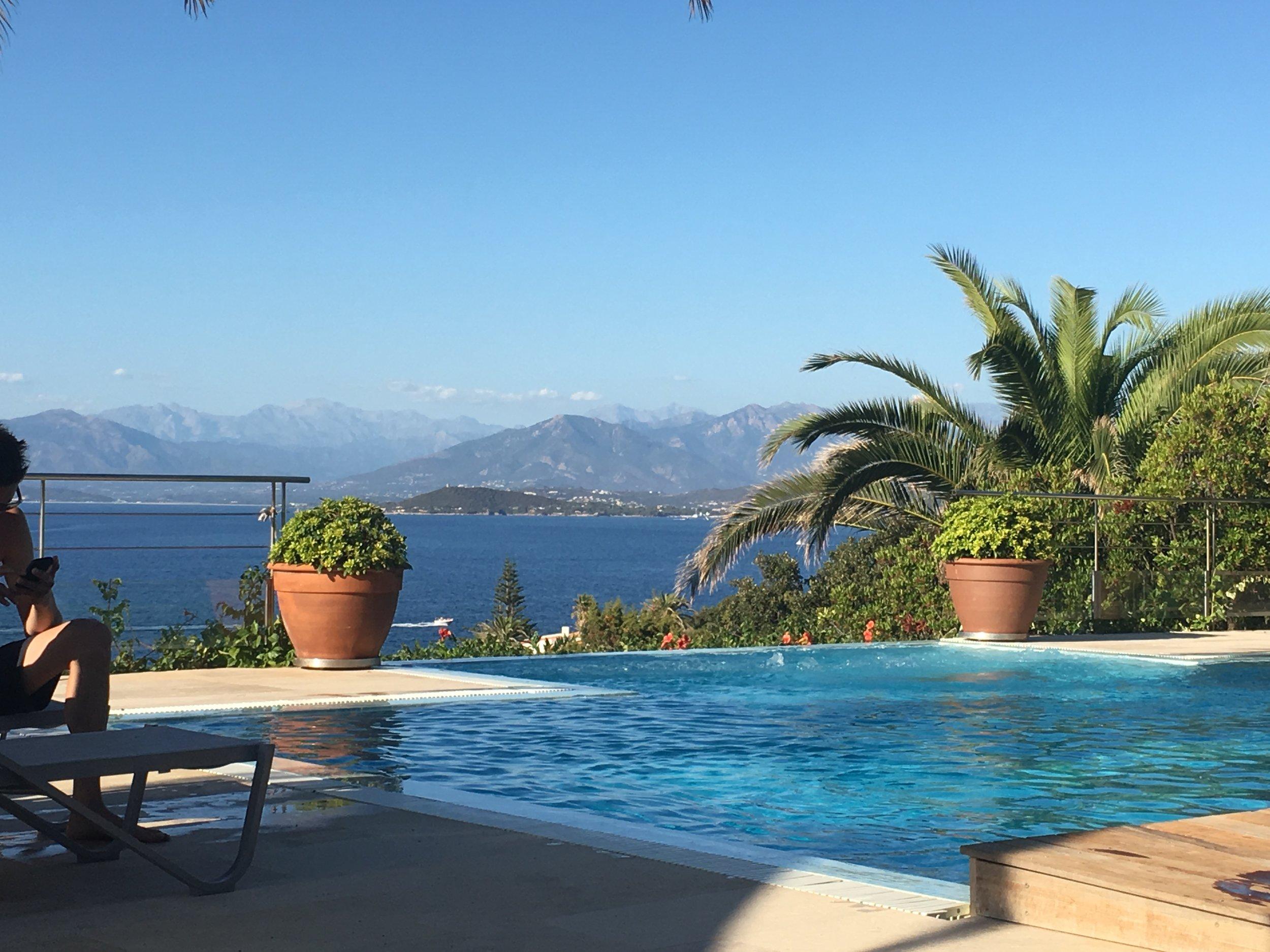 Bucht von Ajaccio und Berge