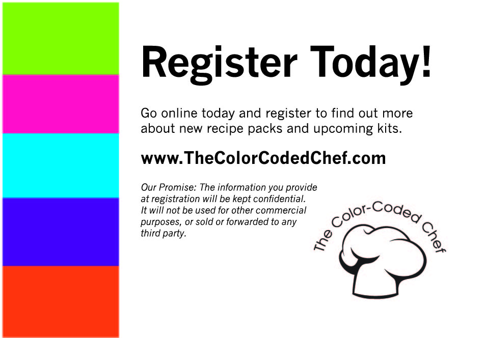 Cooking registration card