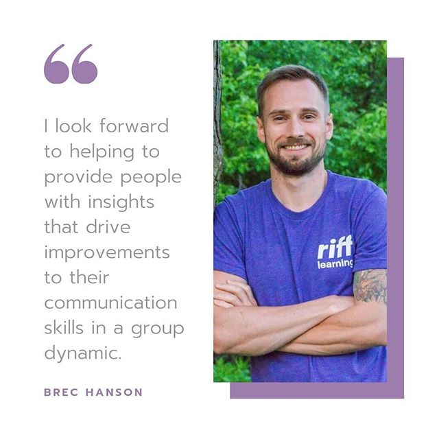 "Meet Brec Hanson, one of Riff's software developers! Brec enjoys working with Riff because he likes helping people change their behavior through data. He notes, ""I look forward to helping to provide people with insights that drive improvements to their communication skills in a group dynamic."" In his free time, Brec plays several instruments, keeps up his health and fitness through a number of different sports, and likes challenging his mind by reading online articles that contradict each other! #meettheriffteam"
