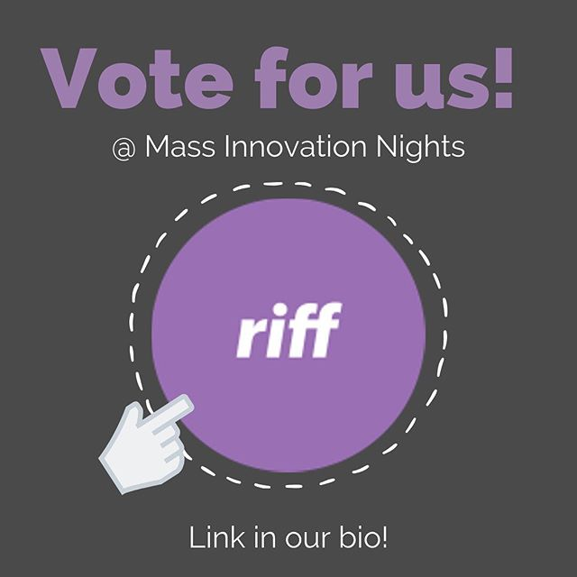 Friends and family, far and wide... we are part of a local innovators event that's focusing on women founders (Mass Innovation Nights). We'd love to have the opportunity to pitch our platform to investors, but we need votes!  If you're inclined, it takes 30 seconds to vote, and it would really help us out! Feel free to tag others who you think might be interested in supporting us. If you want to learn more about what we're doing, go to https://www.riffanalytics.ai, or simply DM us!  VOTING LINK IN OUR BIO! (Click the VOTE HERE link in the left navigation and find us in the list!)