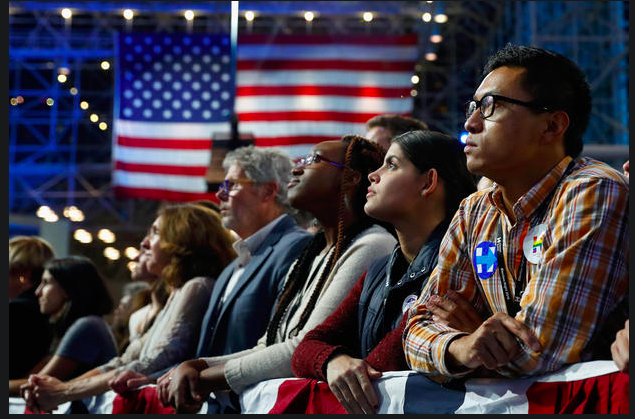 Jacob Javits Center - Clinton supporters react - Pictures - CBS News Aaron P. Bernstein Getty.png