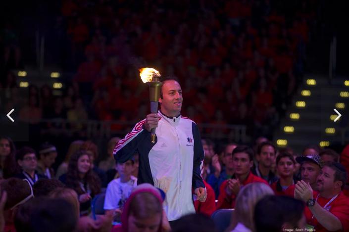 Olympian, VIP crowd welcome nearly 1,000 teens to Milwaukee, Maccabi Games. Slideshow - Milwaukee - Milwaukee Business Journal Safari, Today at 1.06.53 AM.png