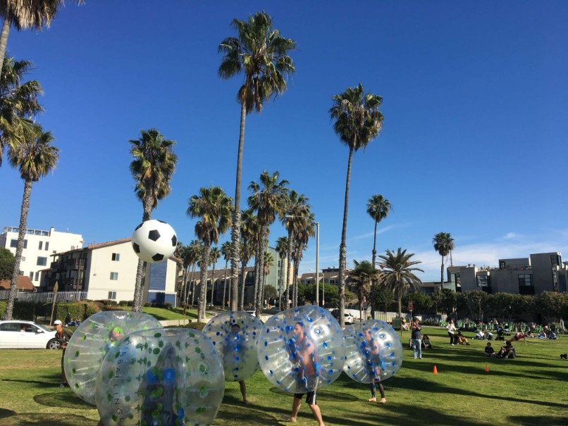 Bubble Soccer in Venice Beach, Los Angeles