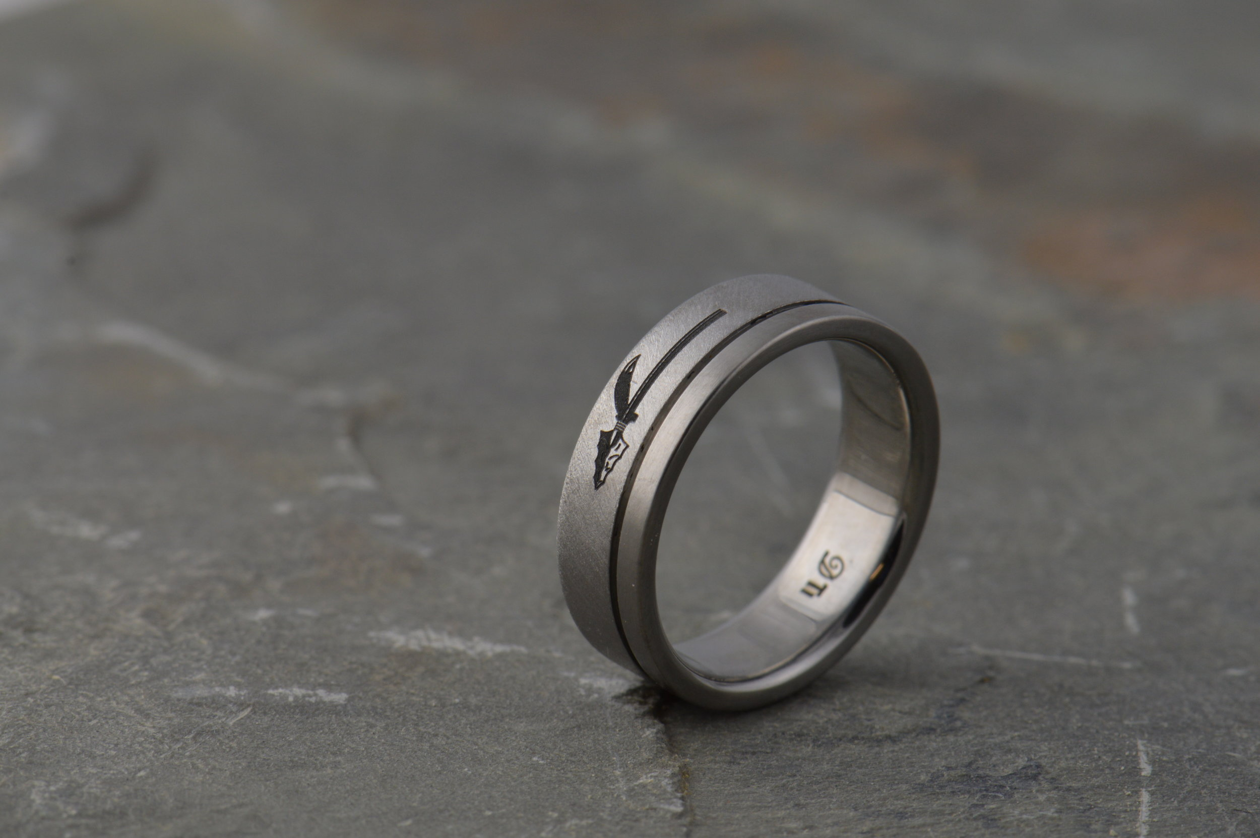 Client design on his own ring.