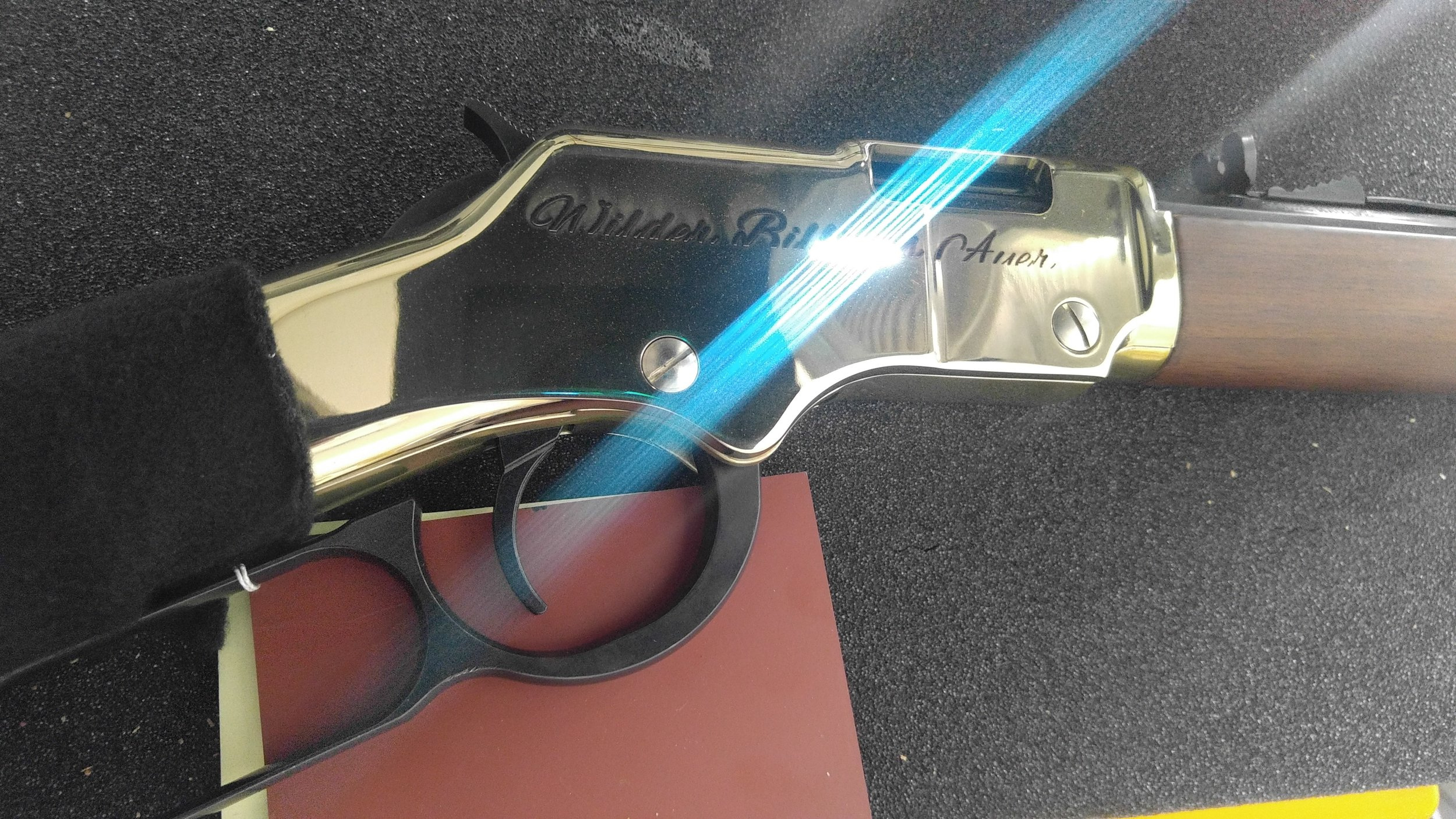 Rifle engraving in action.