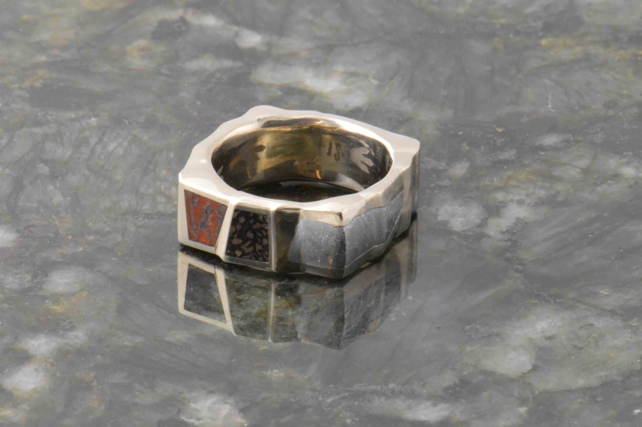 darvier-trex-meteorite-dinosaur-bone-faceted-square-wedding-band.JPG