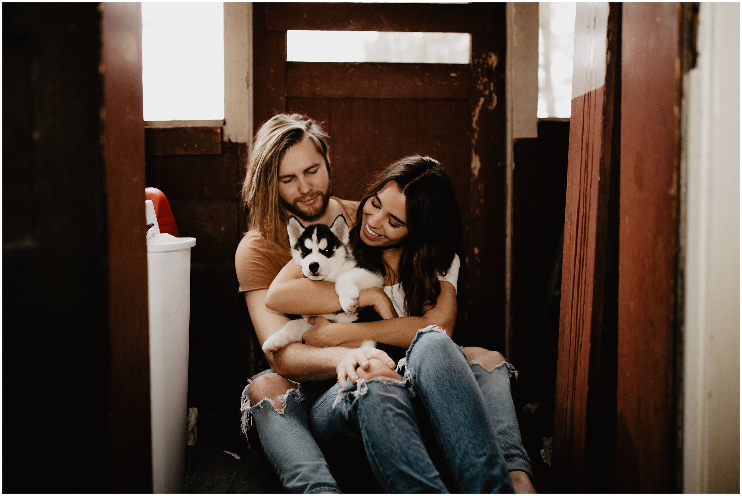 Cute Siberian Husky Puppy | Cassie Trottier Photography In Home Session