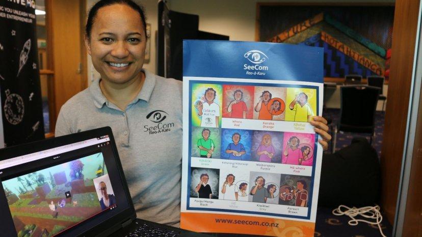 Māori woman develops game to teach sign language | Maori Television