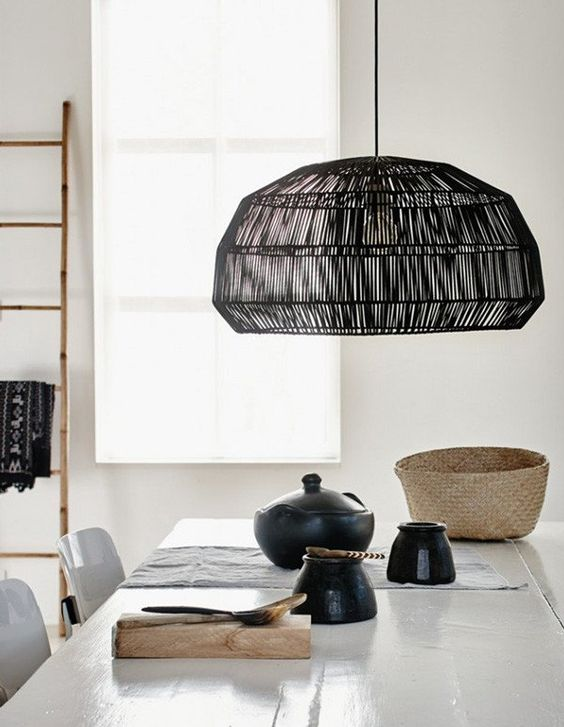 How about this option... a white palette with a statement black pendant? (Image: Damage Playground)