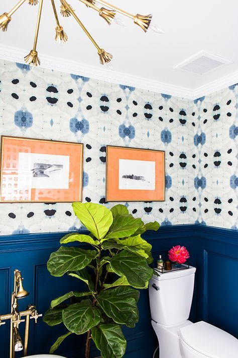 And finally, a little color never hurt nobody. I love the blues in this Eskayel wallpaper. Their line is an absolute favorite of mine. The extra pops of color in this room really work for me too.    Image Credit: Pinterest