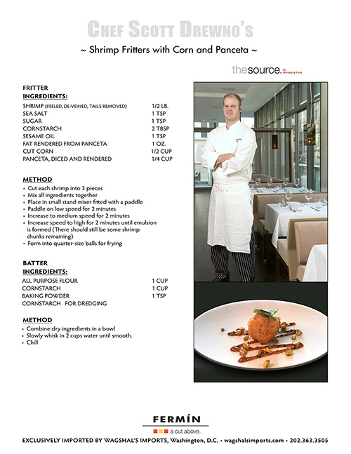 """CHEF SCOTT DREWNO:RAMW 2010 """"CHEF OF THE YEAR"""" FROM WOLFGANG PUCK'S - THE SOURCE DC"""