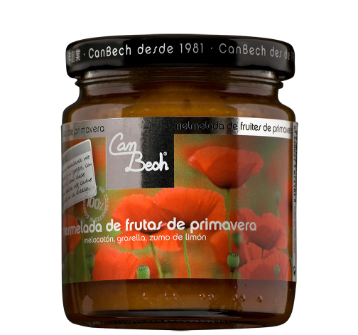 Spring Fruit Spread - This jam is prepared with peaches and red currants, with a touch of lemon and apple to reduce the sweetness of the main fruits.It goes well in fruit cups with apricots, strawberries, and medlars. It also combines with cream cheese spread or you can add it to a meat sauce to eat with grilled chicken legs.
