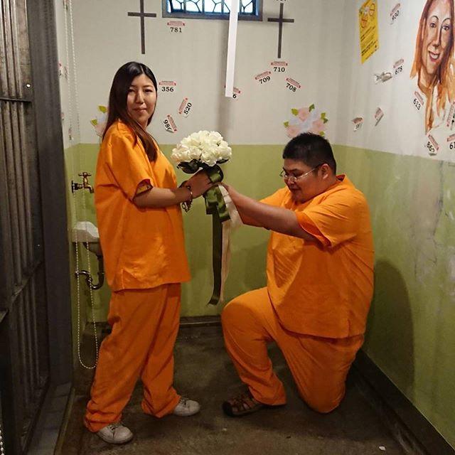😈💛💜💛💜 #OkinawaPrison#刑務所体験