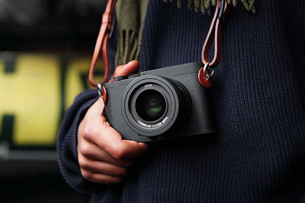 Leica Q-P camera and strap