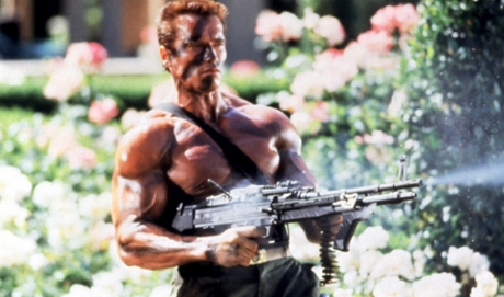 - This week, we managed to talk for over an hour about the all-beef-platter of a movie, Commando (1985) and somehow didn't crack a single joke about underwearlessness.¯\_(ツ)_/¯ This movie stars a hulking Arnold Schwarzenegger whole-assing his way through a series of gun fights and property explosions that somehow add up to the second gayest movie of all time. High altitude bogs, linguini arms, and dropped pins forgotten this week on Ex Rated Movies!