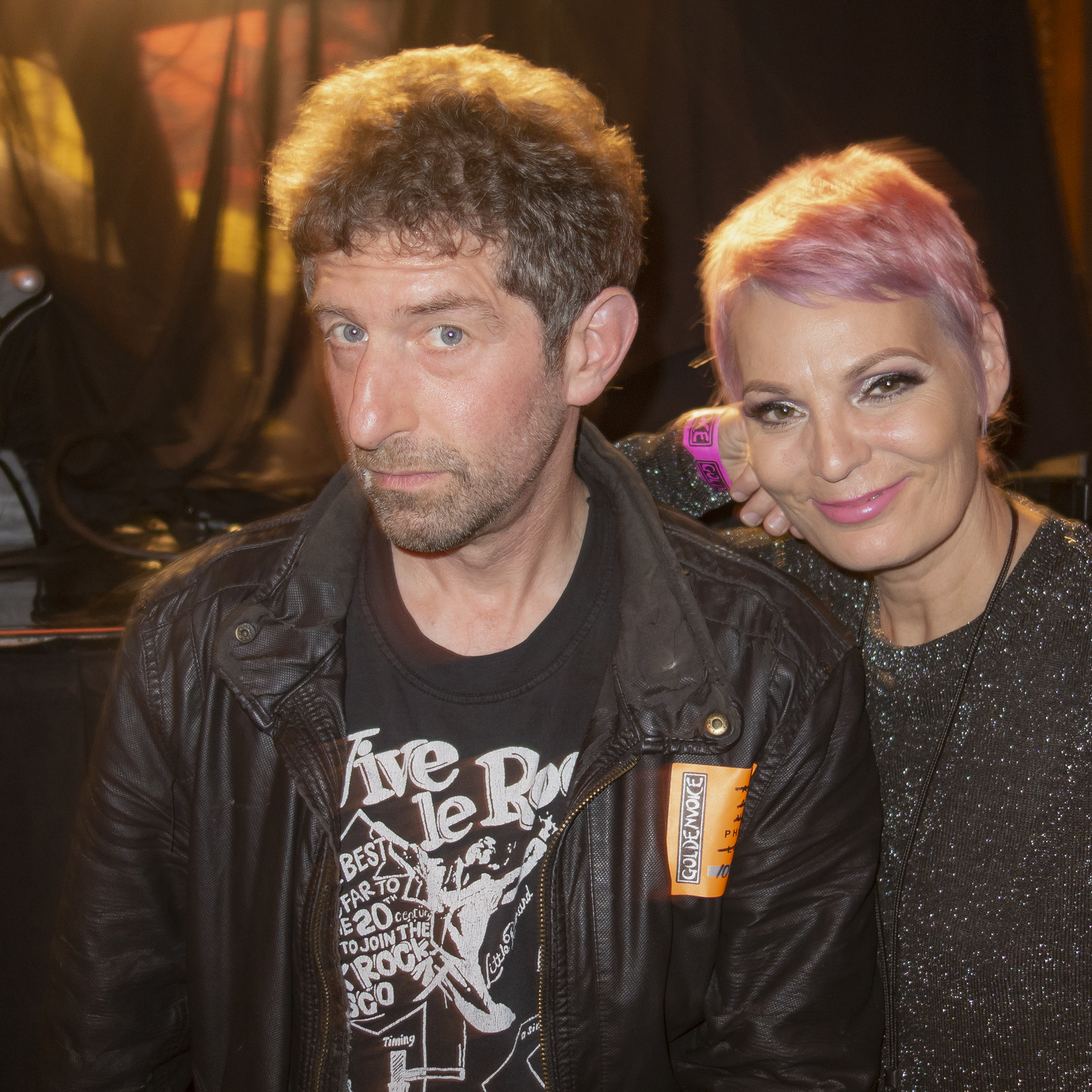 Greg Gutbezahl (IG @gregmg451) with ace photographer Lisa (IG @scarydeadtimestories) at the Regency Ballroom for The Damned and the Darts Halloween show.