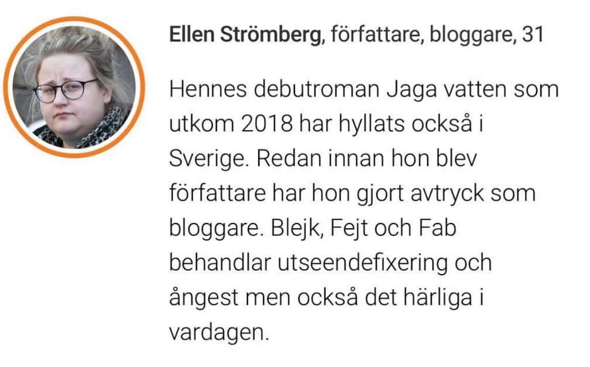Med på listan  40 under 40 - Svenskfinlands framtidshopp  i HBL, december 2018.