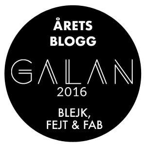 Framröstad till Årets Blogg på  Galan 2016 .