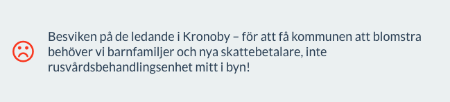 """screenshot från ÖT:s """"Arg idag""""-spalt"""