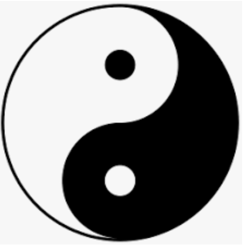 Tai Chi / Taiji symbol demonstrating the idea of duality in oneness