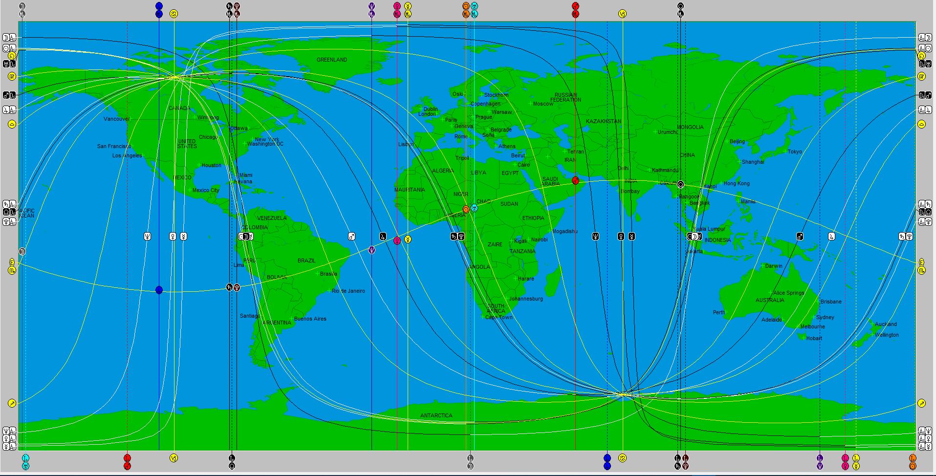 Χάρτης Αστρογεωγραφίας