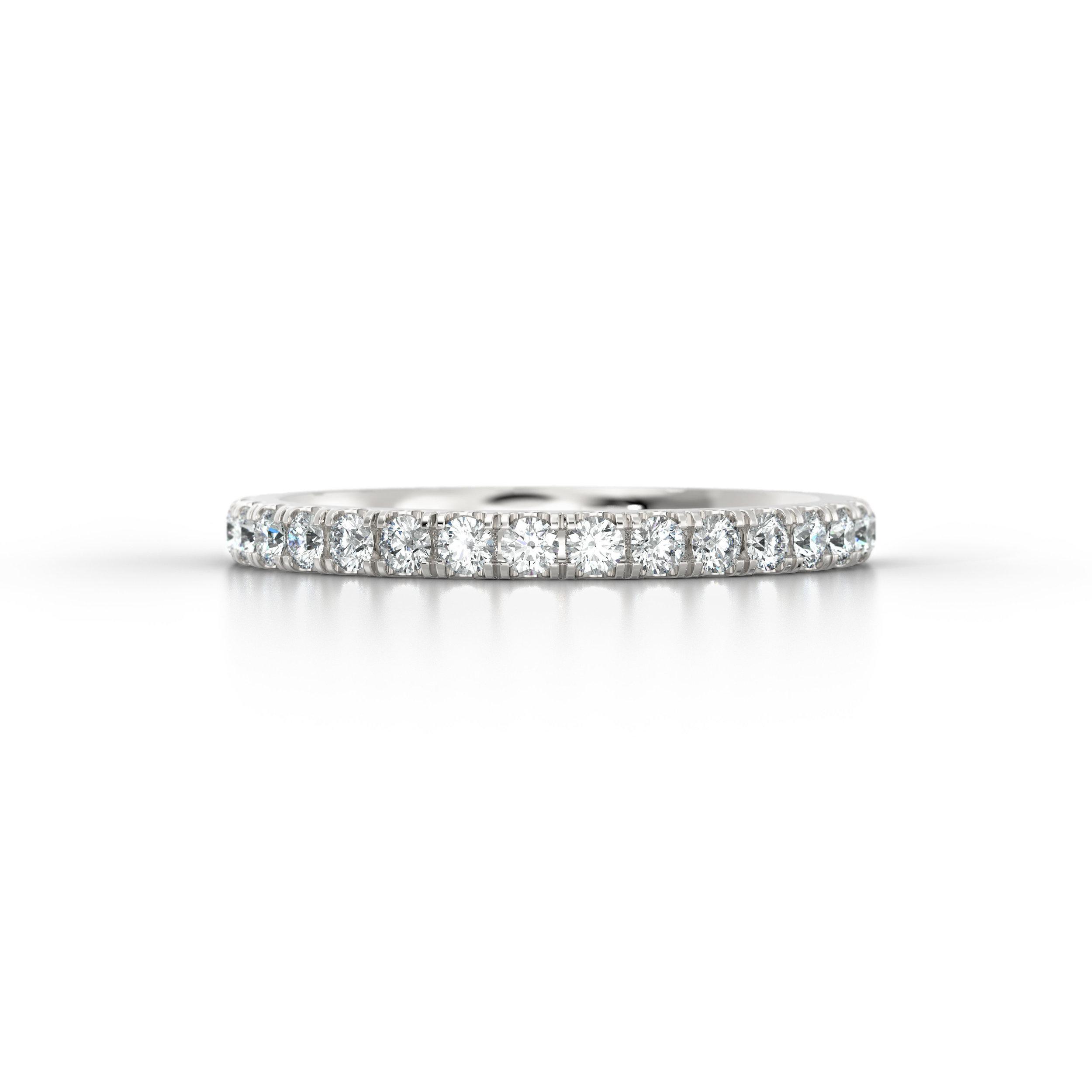 Platinum Micro Set Eternity Ring | Hatton Garden