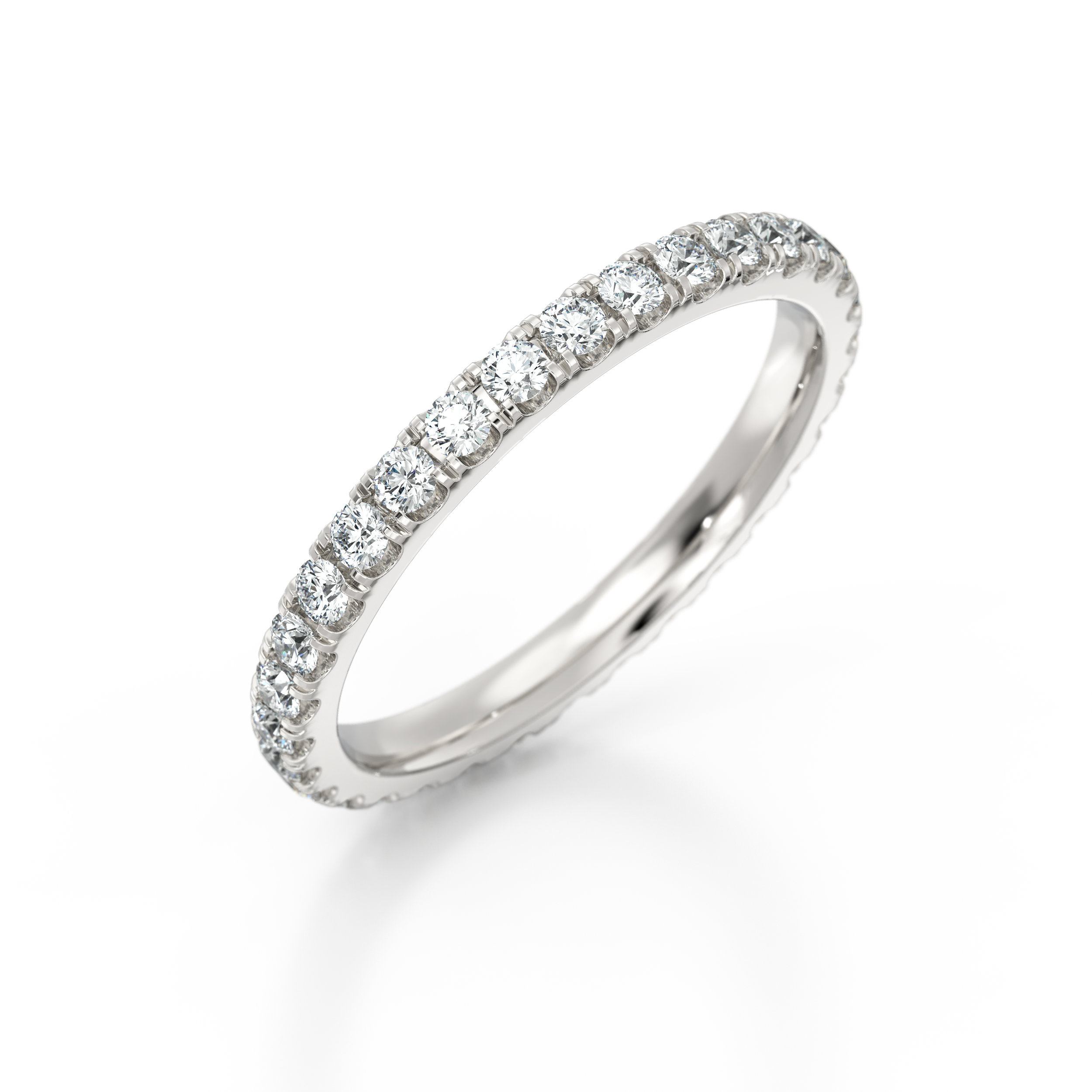Platinum Micro set diamond eternity ring | Hatton Garden