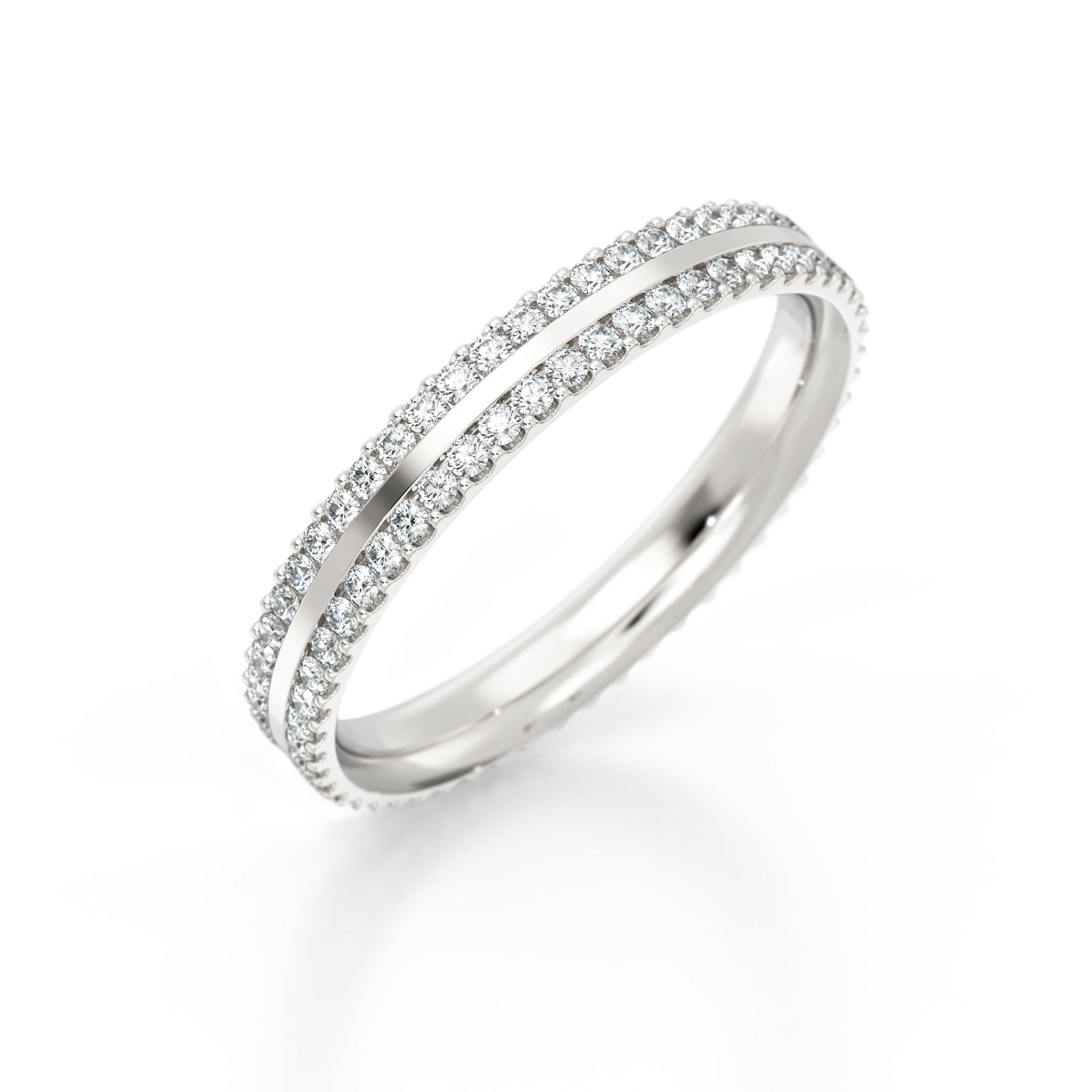 Unique Diamond Baguette Eternity Ring | Hatton Garden