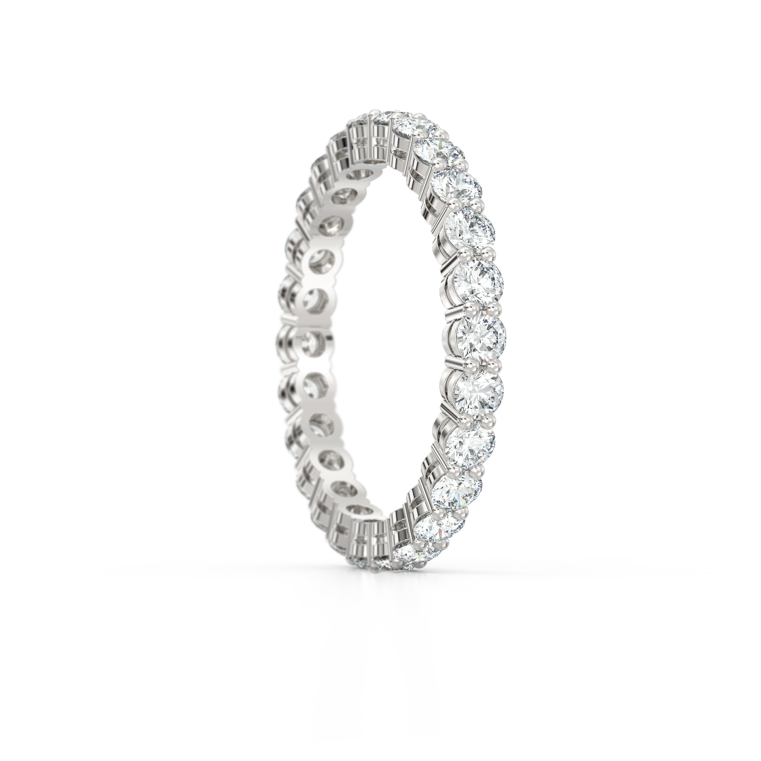 Shared Claw Eternity Ring | Hatton Garden Jewellers