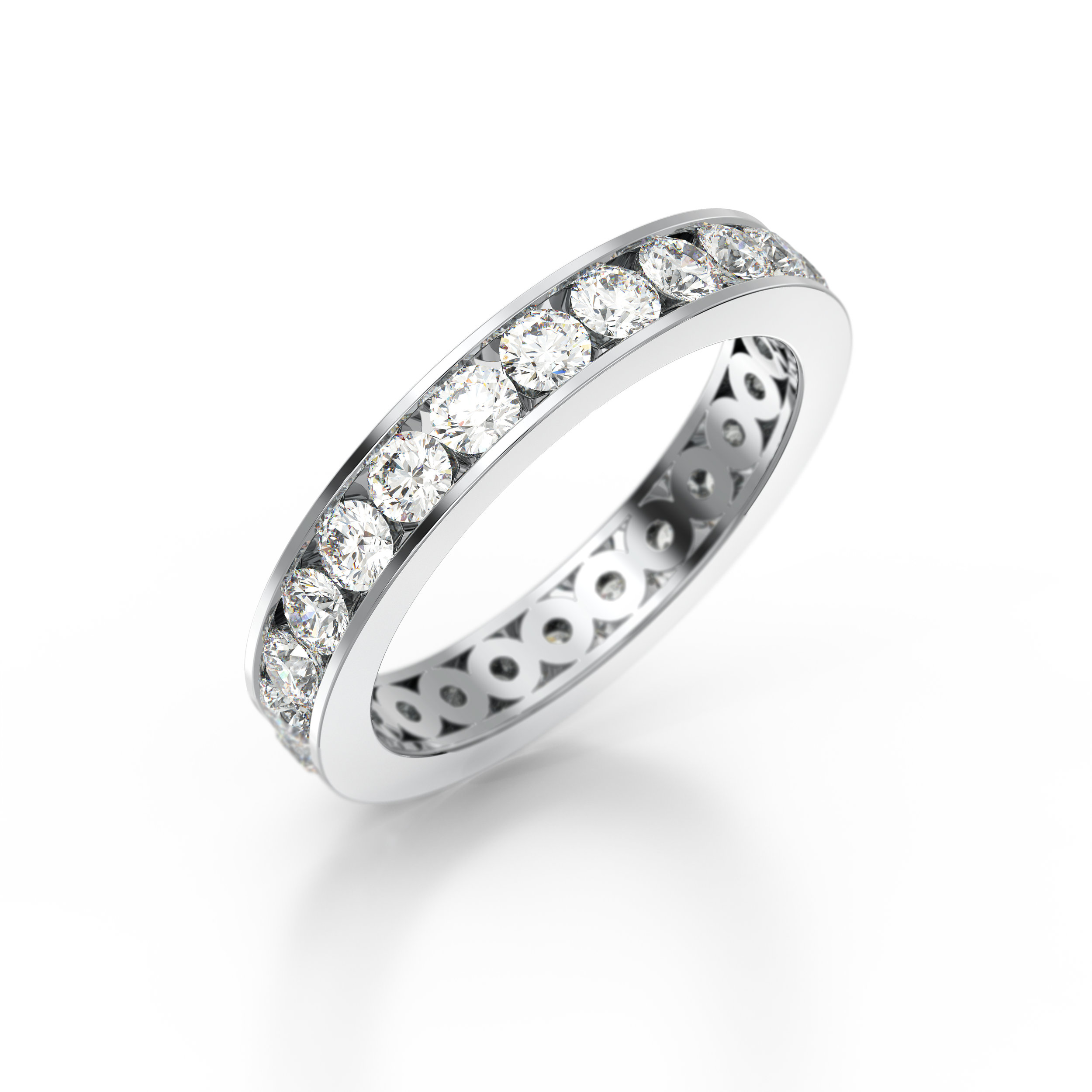 Brilliant Cut Channel Set Eternity Ring | Hatton Garden