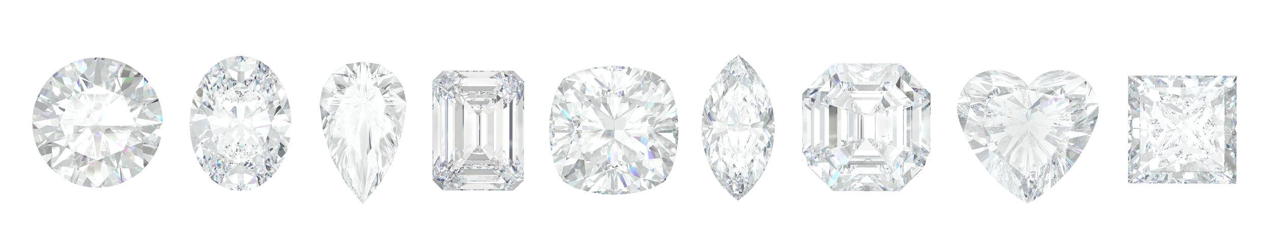 Different diamond shapes