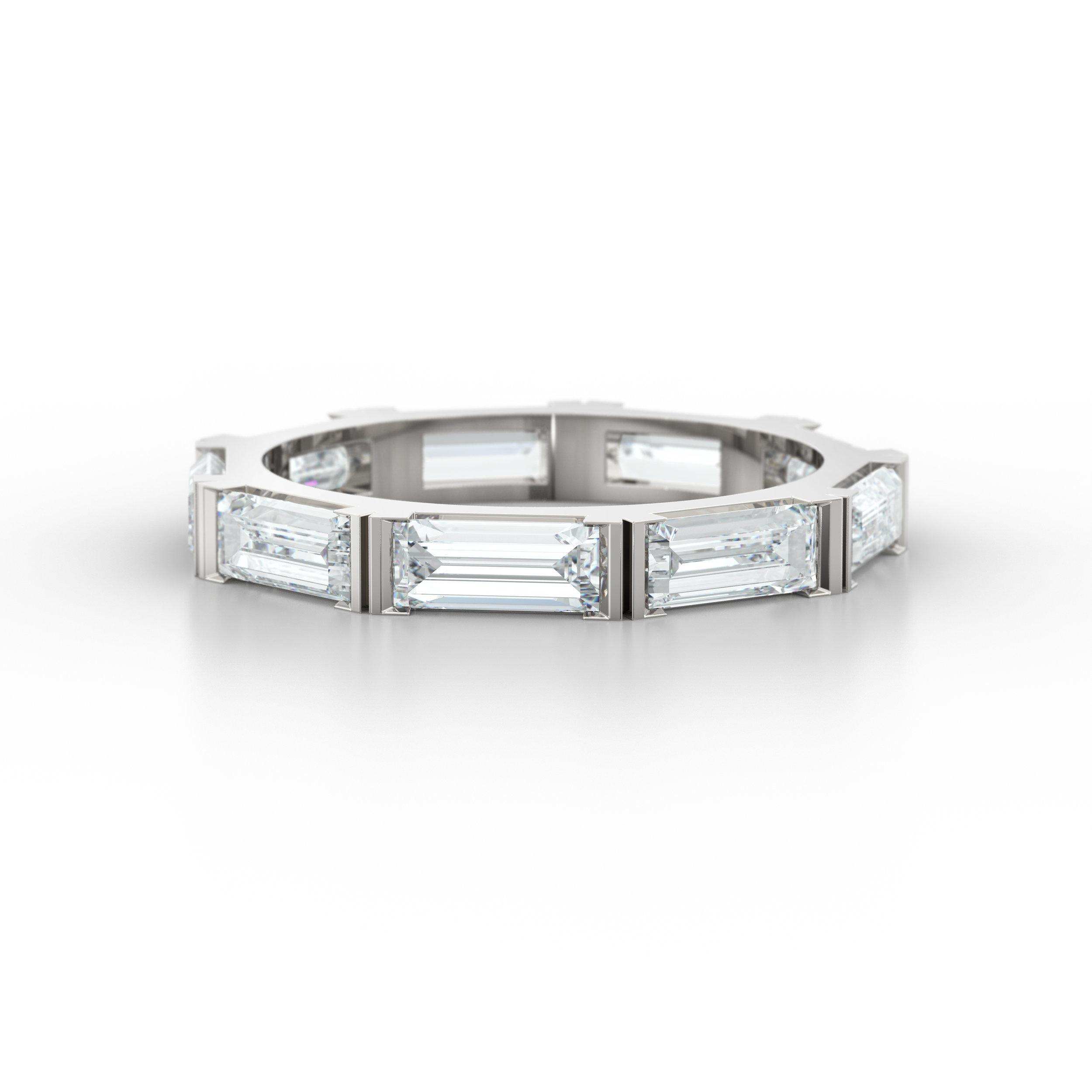Unique Diamond Baguette Eternity Ring   Hatton Garden