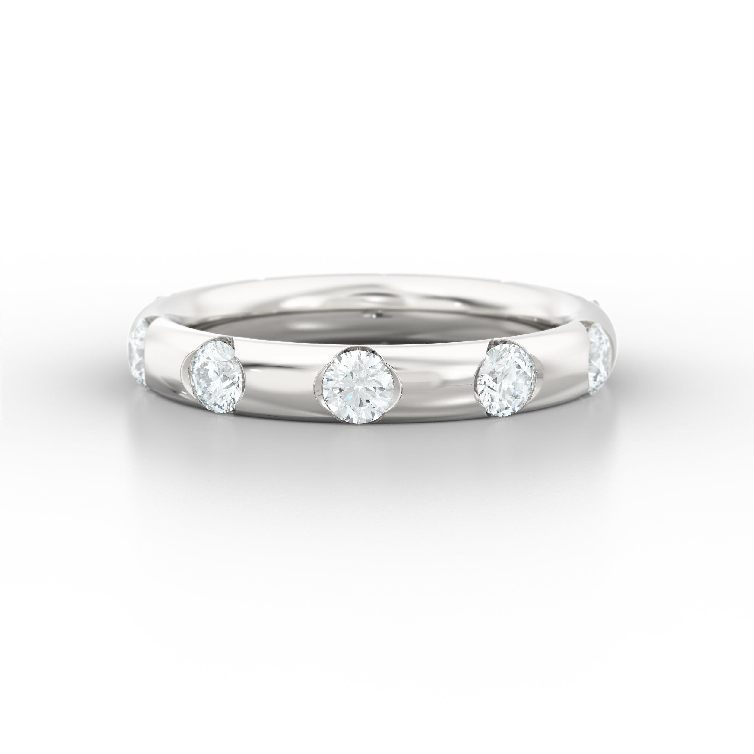 Half Rub Over Diamond Eternity Rings   Hatton Garden Jewellers