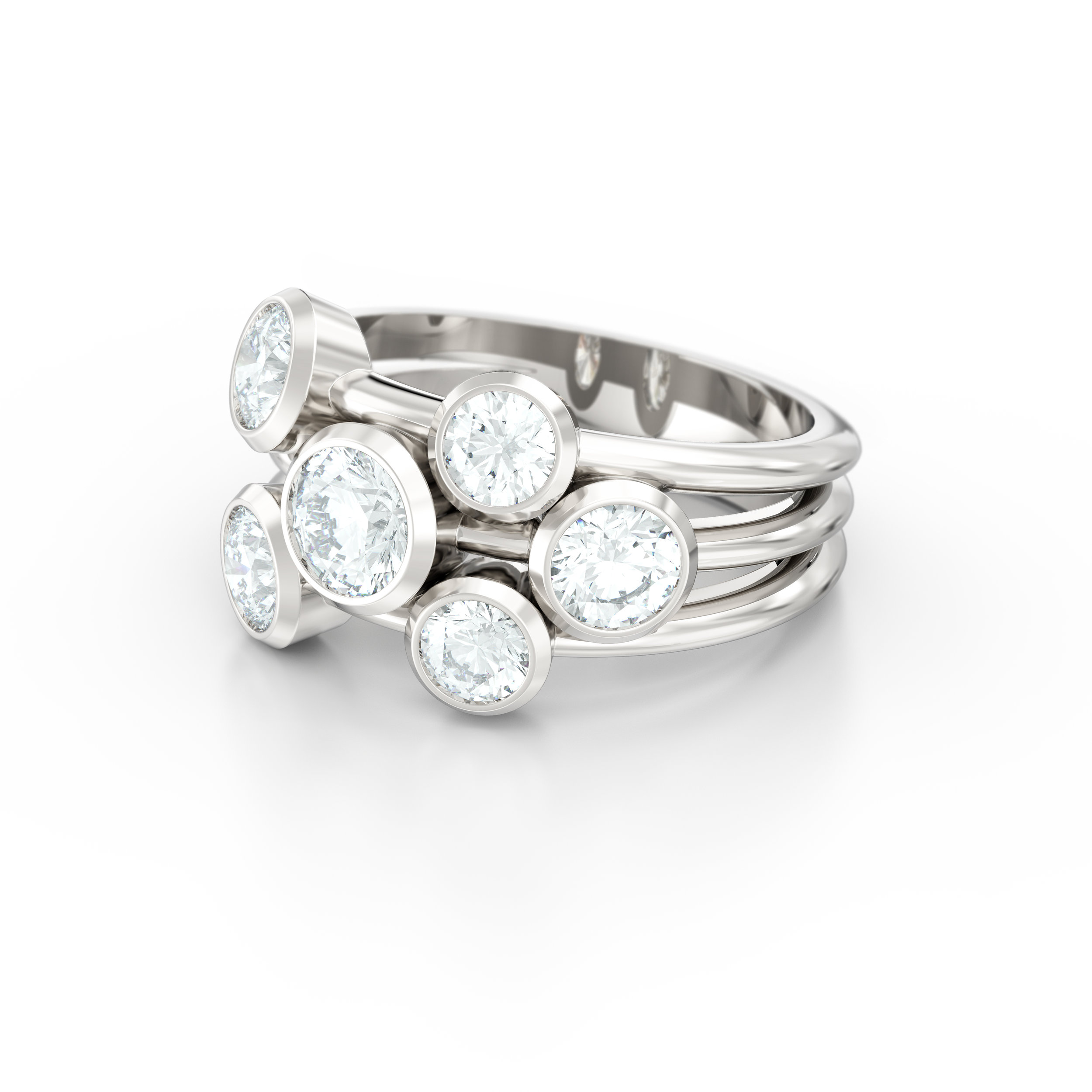 Scattered Cocktail Engagement Ring | Love Fine Diamonds