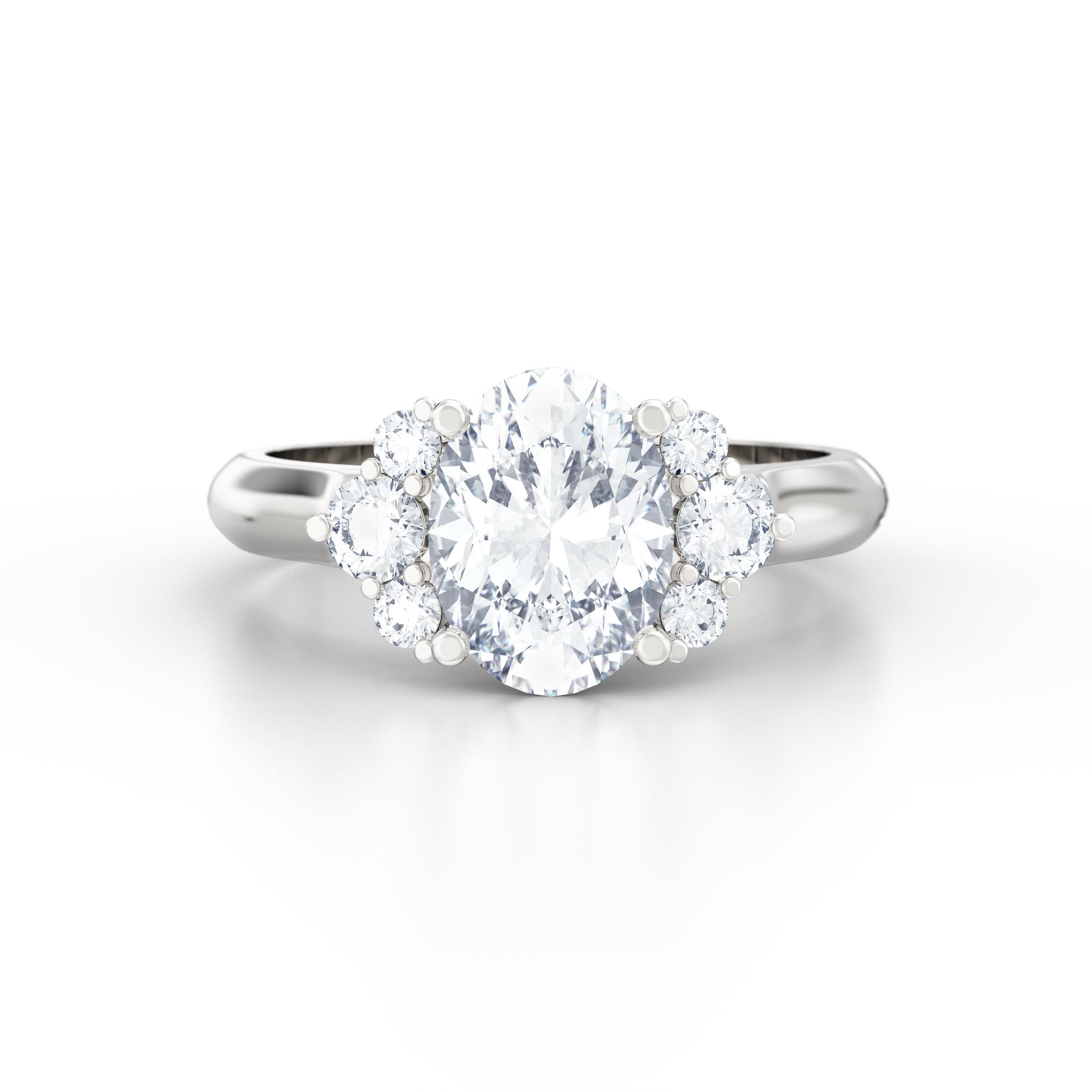 Oval Shape Engagement Ring | | Hatton Garden. London