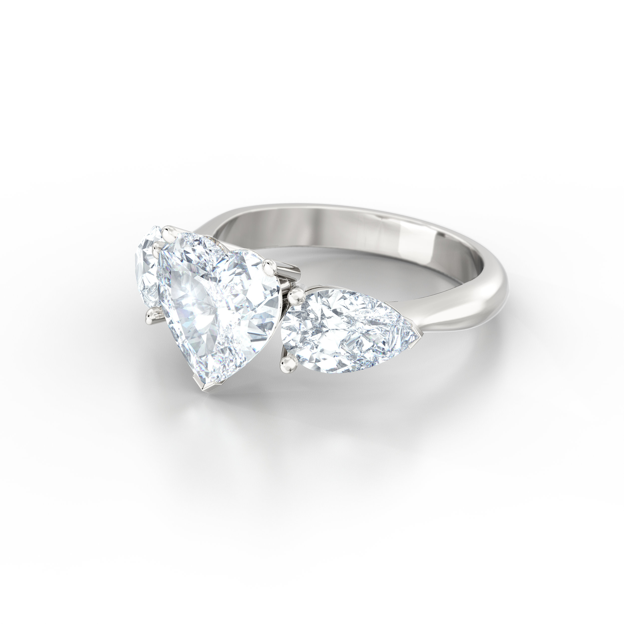 Heart Shape Engagement Ring | Hatton Garden
