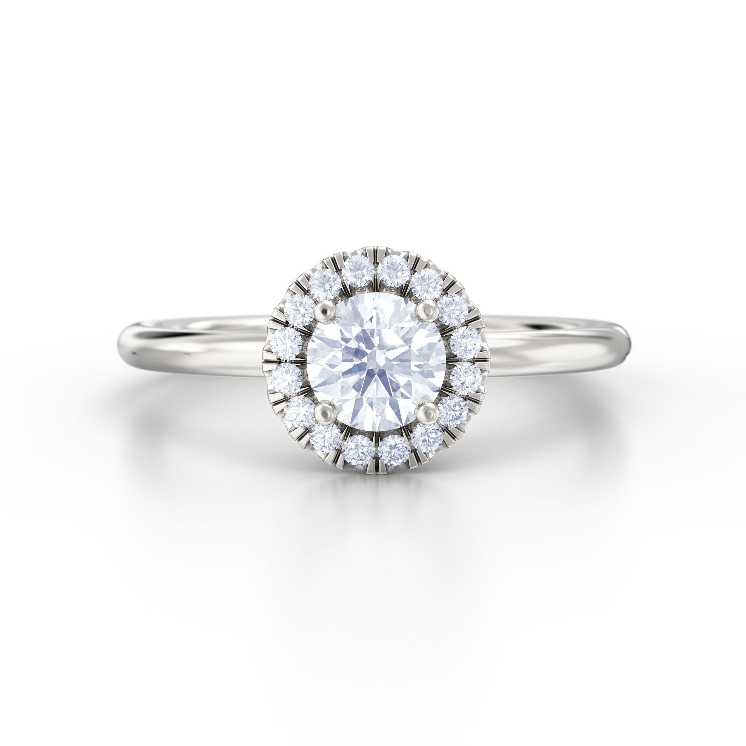 Diamond Halo Engagement Rings | Hatton Garden Jewellers