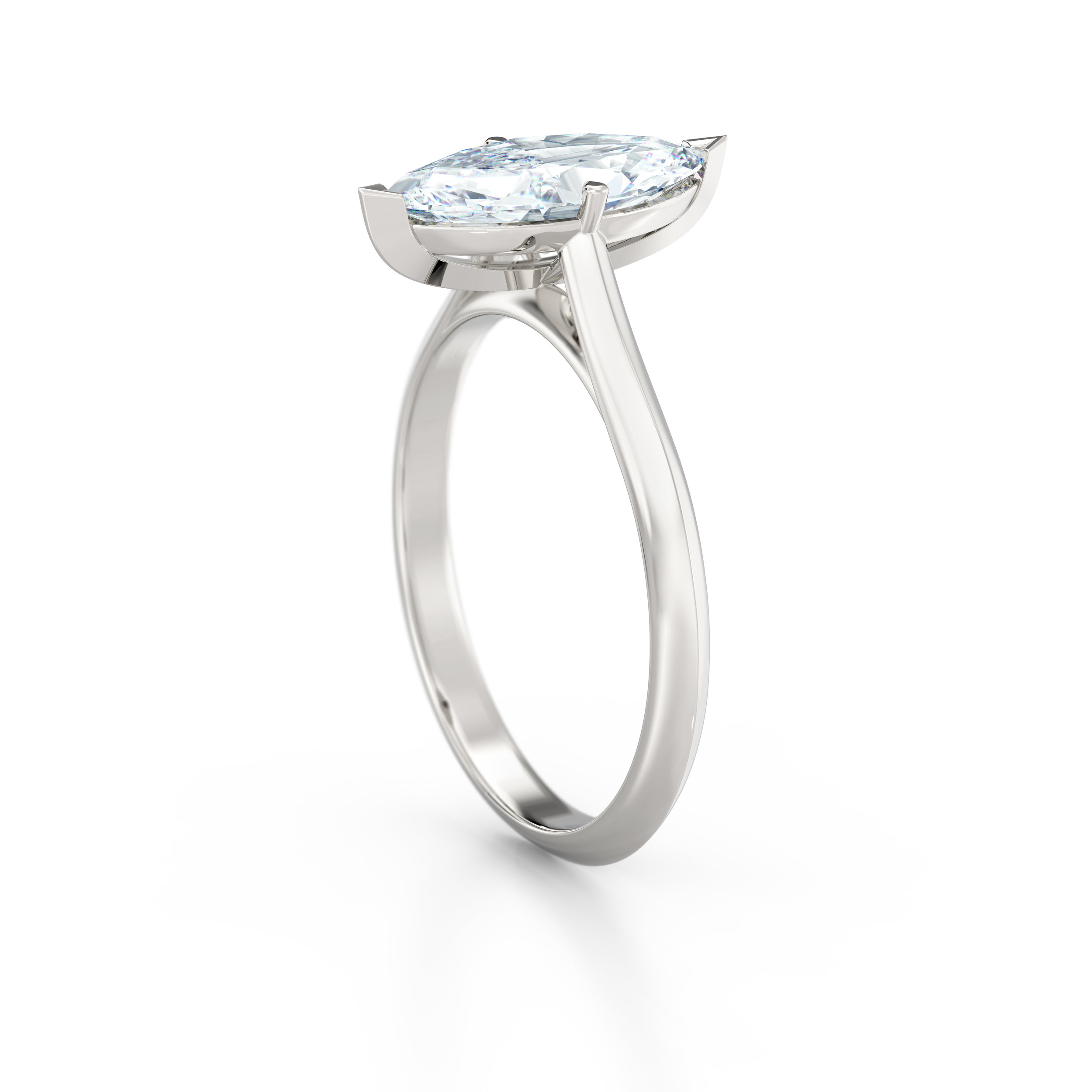 Marquise Cut Solitaire Engagement Ring | Hatton Garden