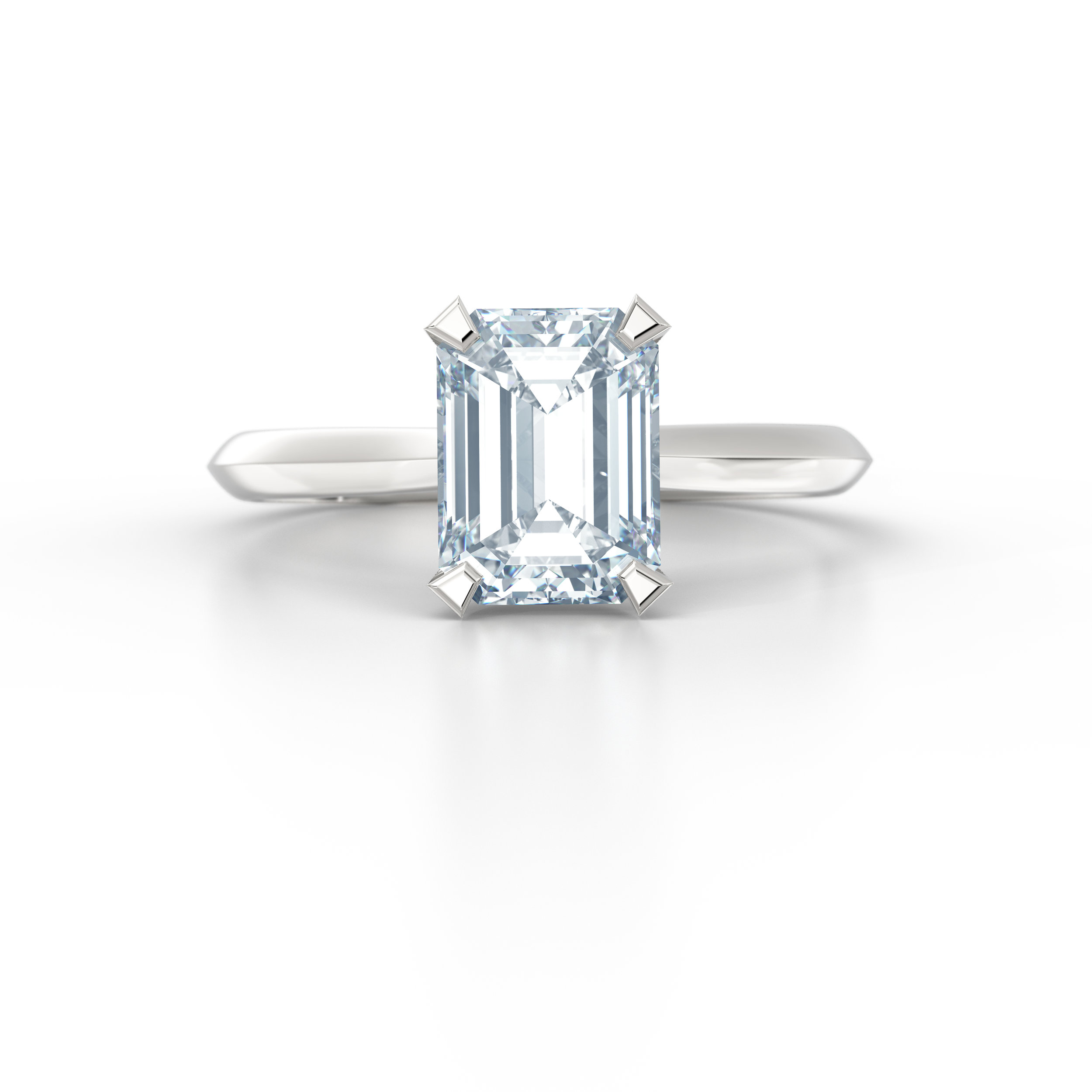 Emerald Cut Solitaire Engagement Ring | Hatton Garden