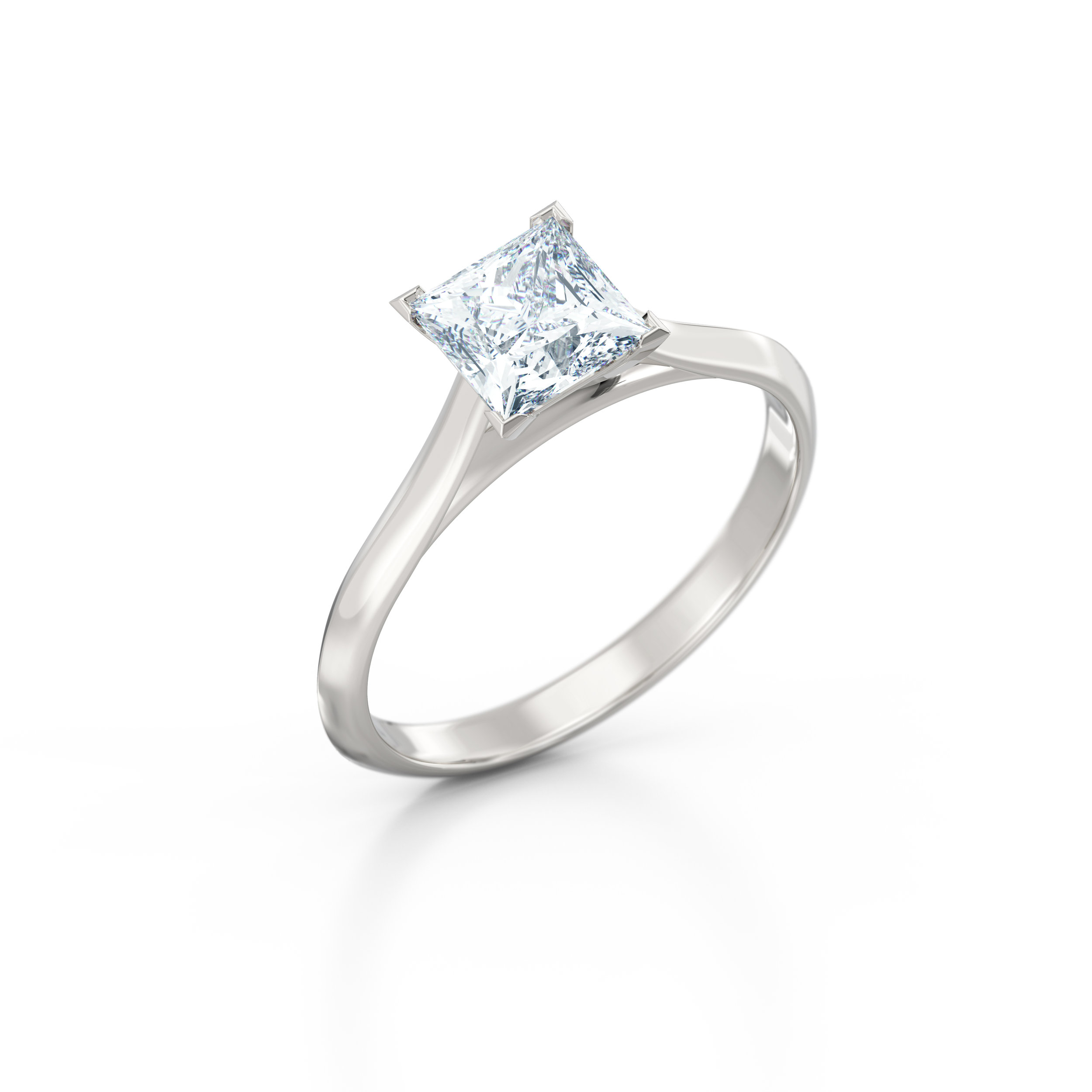 Princess Cut Solitaire Engagement Ring   Hatton Garden