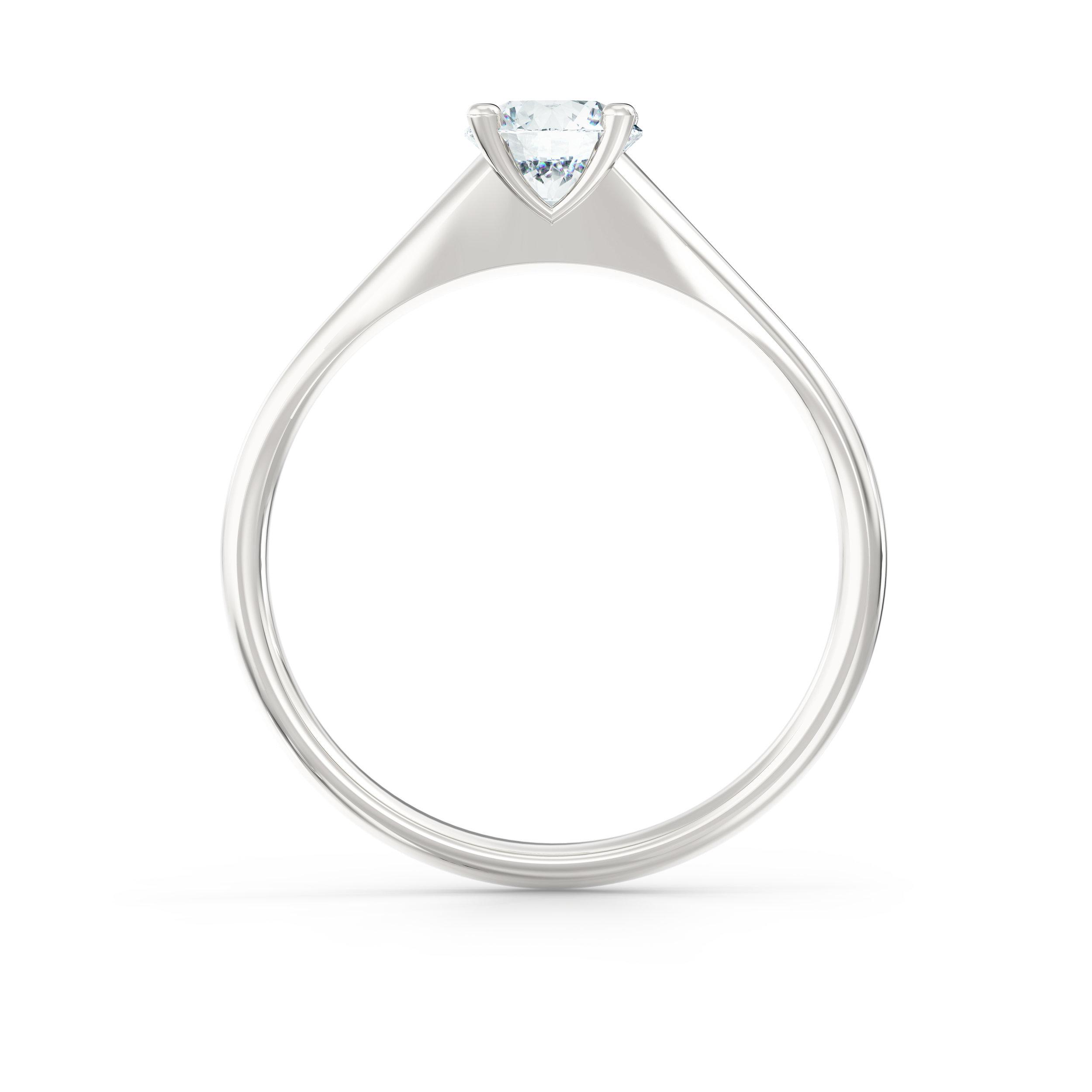 Tapered Platinum Solitaire Engagement Ring | Hatton Garden