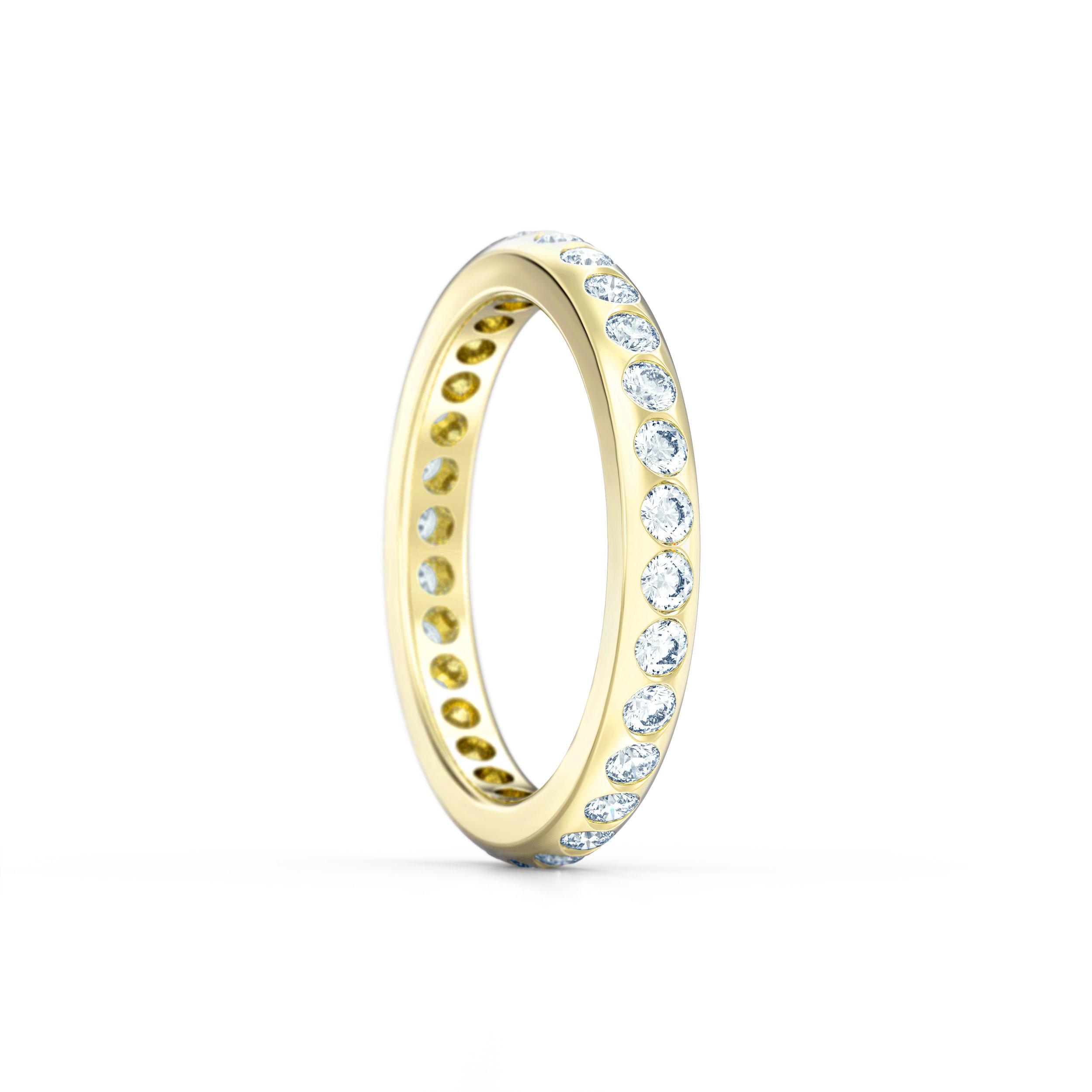 Gypsy Set Rub Over Eternity Ring | Hatton Garden Jewellers