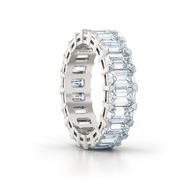 Designed for a returning client this week. A stunning emerald cut full eternity ring. Contact us today to book your complimentary design consultation at http://www.lovefinediamonds.co.uk  #jewellers #hattongarden #london #wedding #weddinginspiration #weddingrings #engagementrings #weddingbands #photooftheday #love #eternityring #eternityring