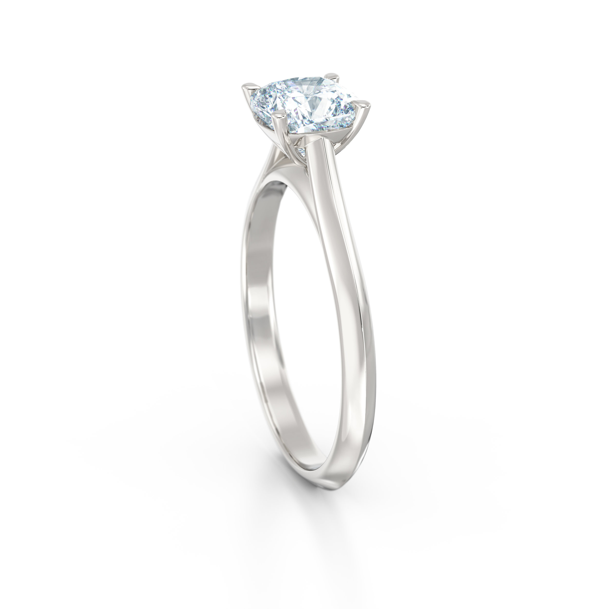 Cushion Cut Solitaire Engagement Ring | Hatton Garden