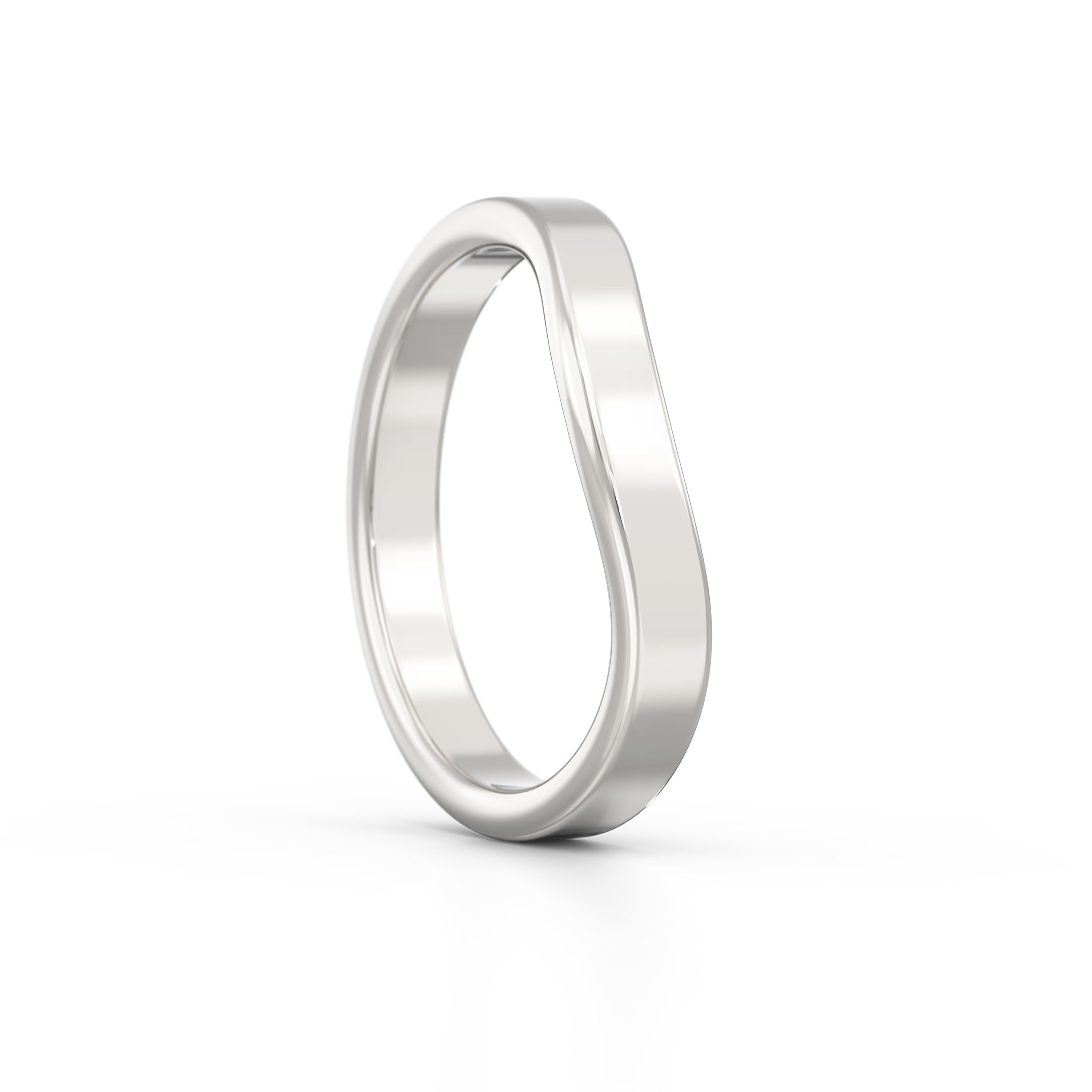 Flat soft edge wedding band | Hatton Garden | London