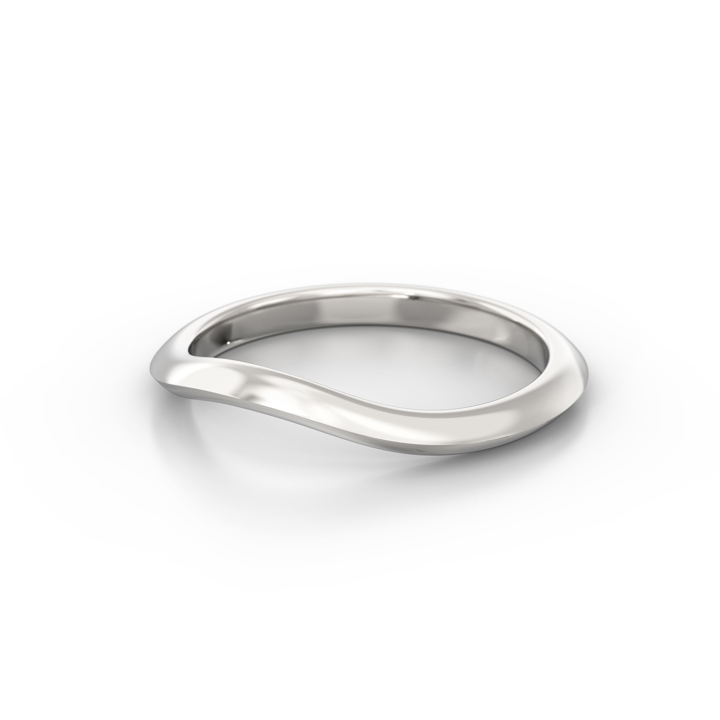 Knife edge wedding band | Hatton Garden | London
