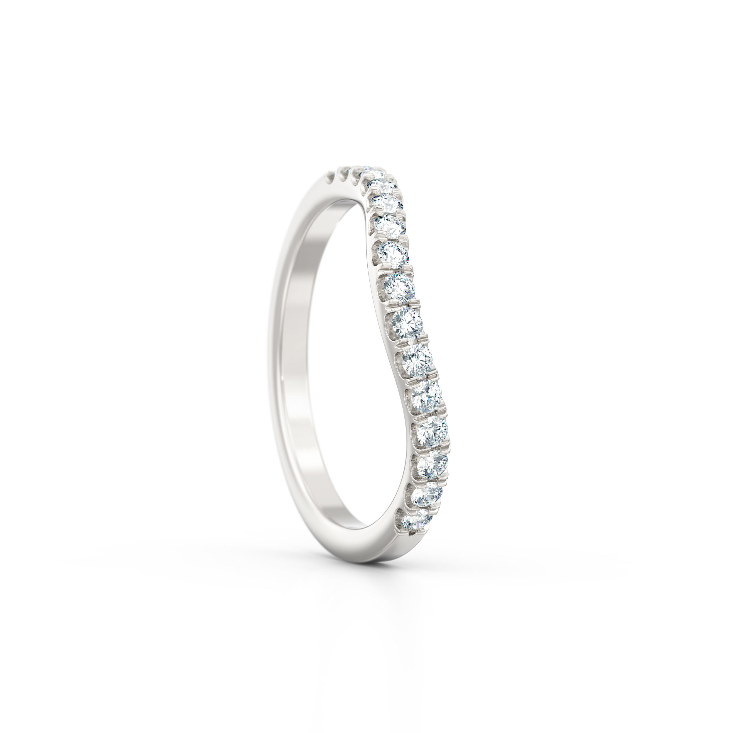 Diamond wishbone shaped wedding band | Hatton Garden