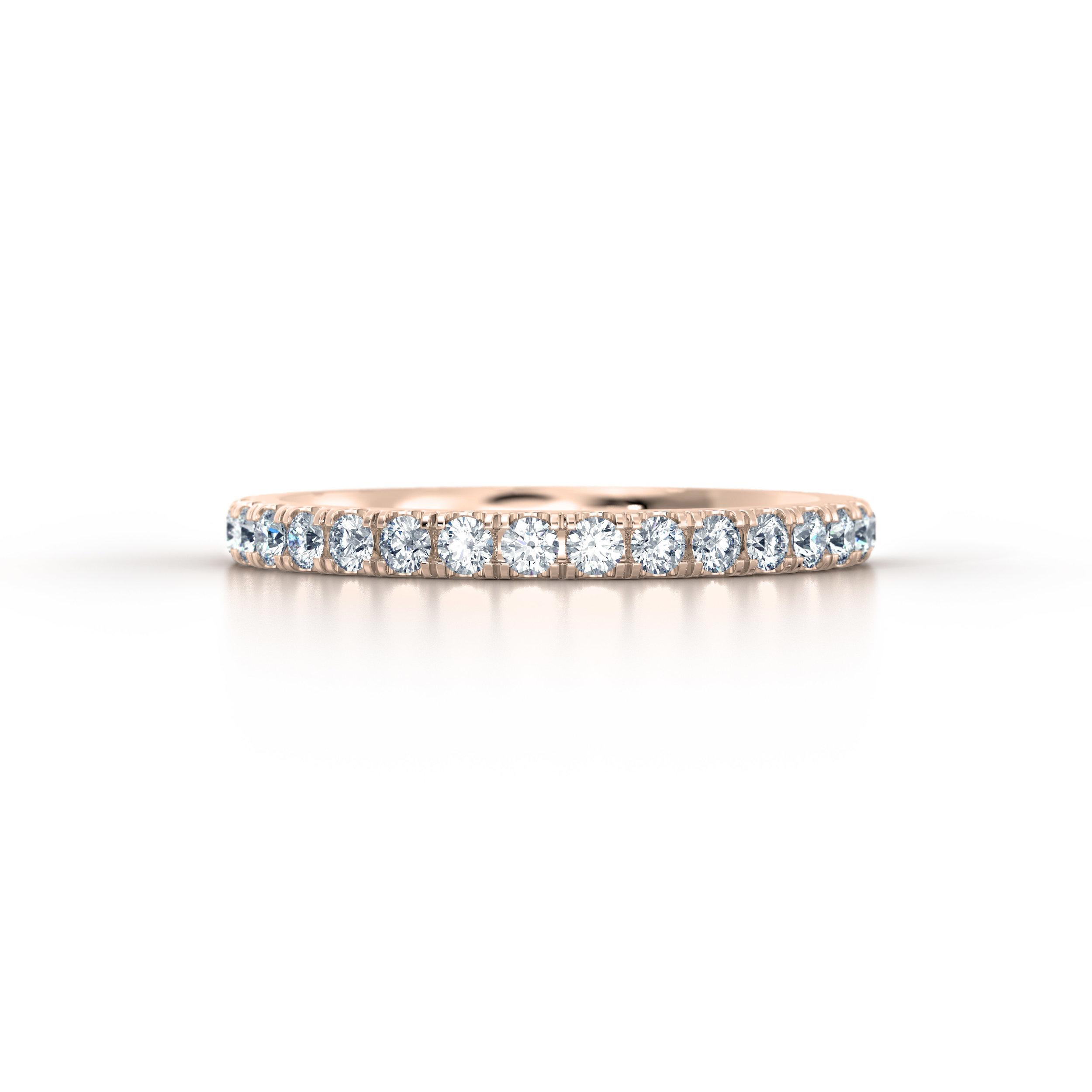 Rose Gold Micro Set Eternity Ring | Hatton Garden