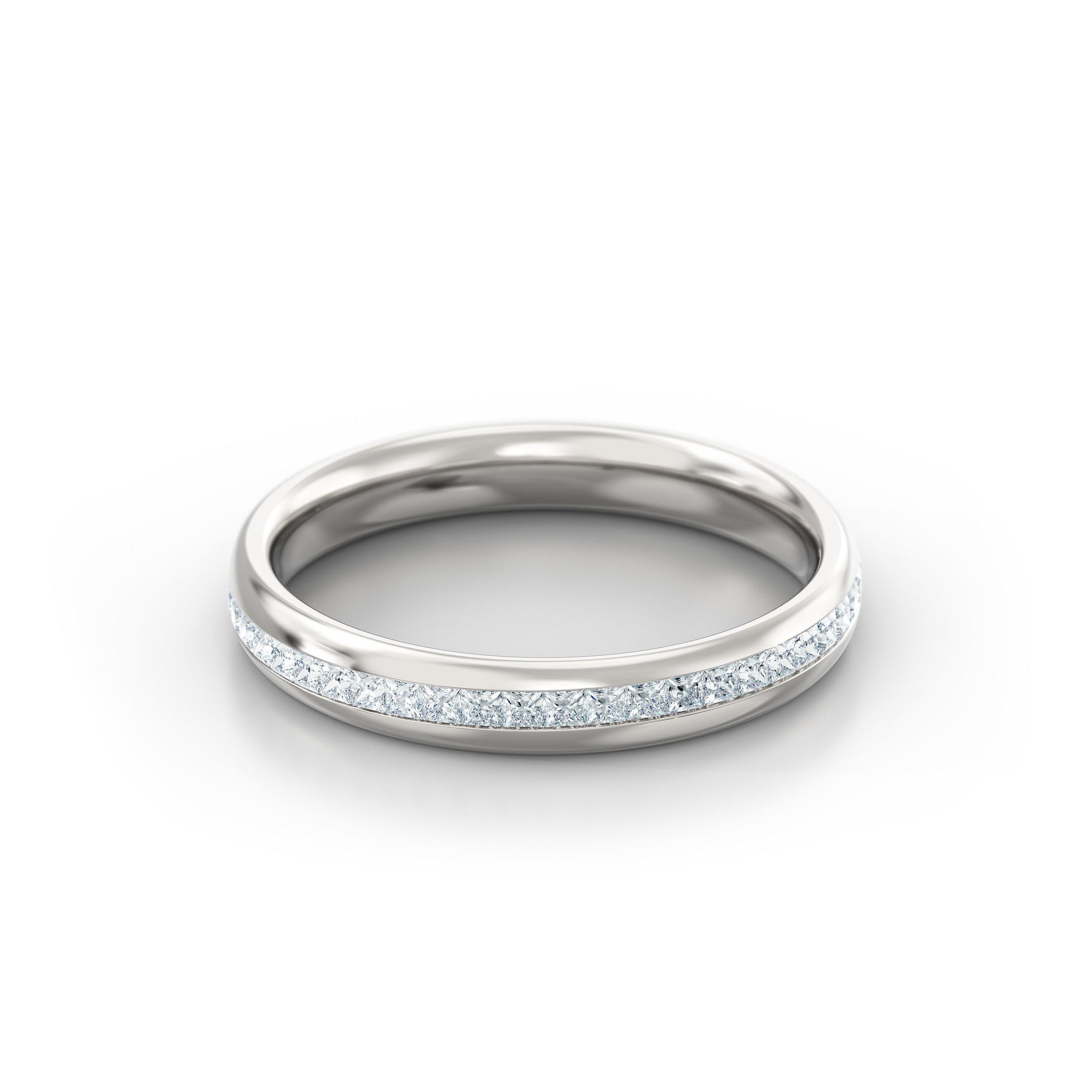 Princess Cut Channel Set Eternity Ring   Hatton Garden   London