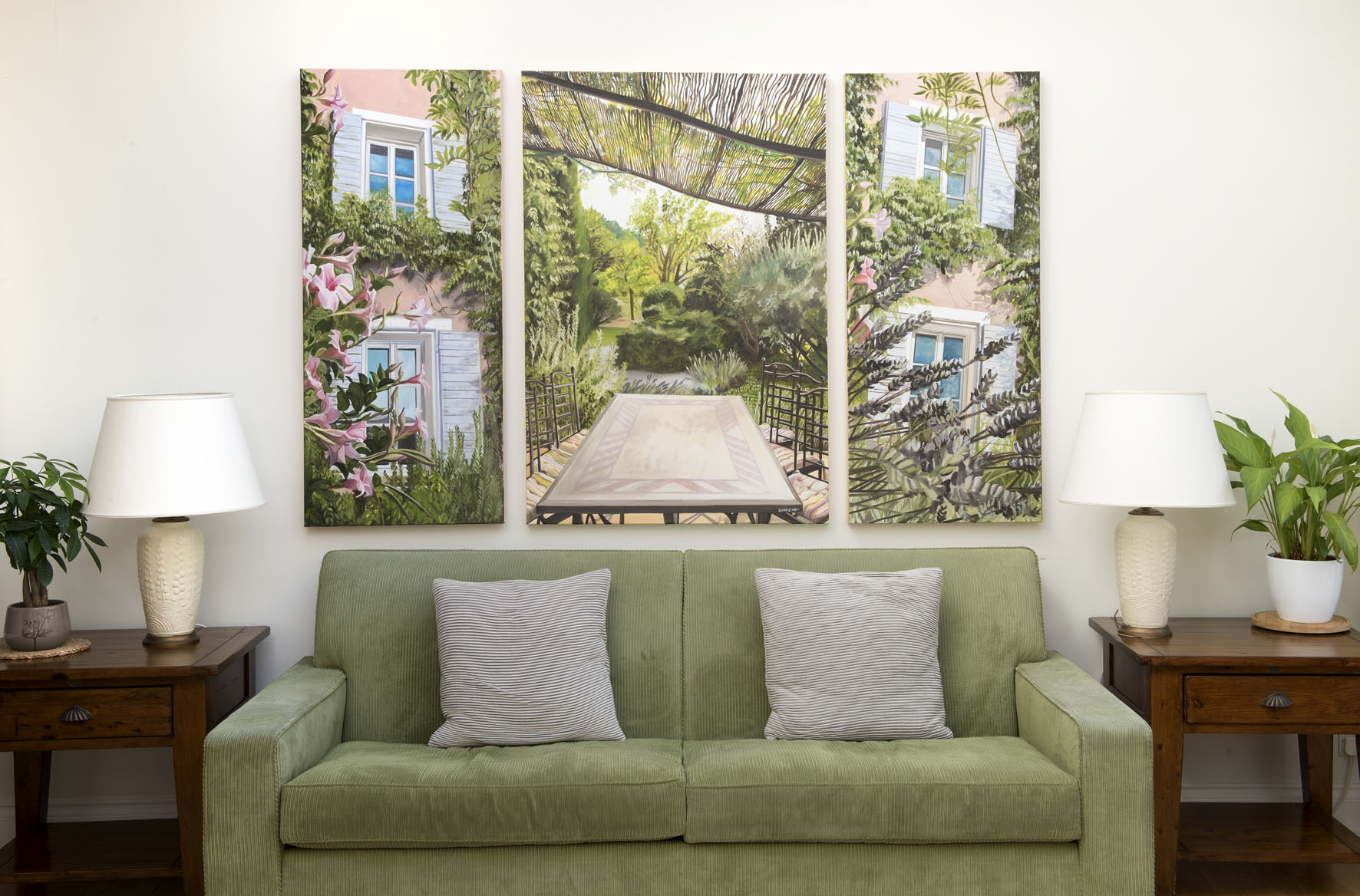 Homes and Gardens - New commission installed in North London of family holiday home Maison Rose in Dauphin, Aix en Provence
